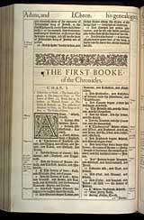 1 Chronicles Chapter 1, Original 1611 KJV