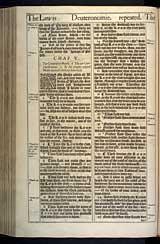 Deuteronomy Chapter 5, Original 1611 KJV