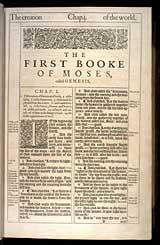 Genesis Chapter 1, Original 1611 KJV