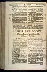 1 Samuel Chapter 1, Original 1611 KJV