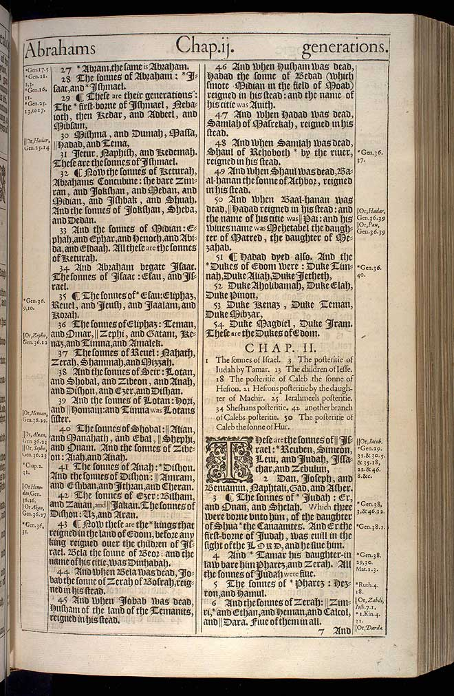 1 Chronicles Chapter 1 Original 1611 Bible Scan