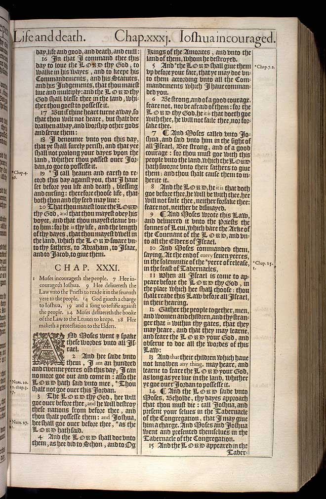 Deuteronomy Chapter 31 Original 1611 Bible Scan