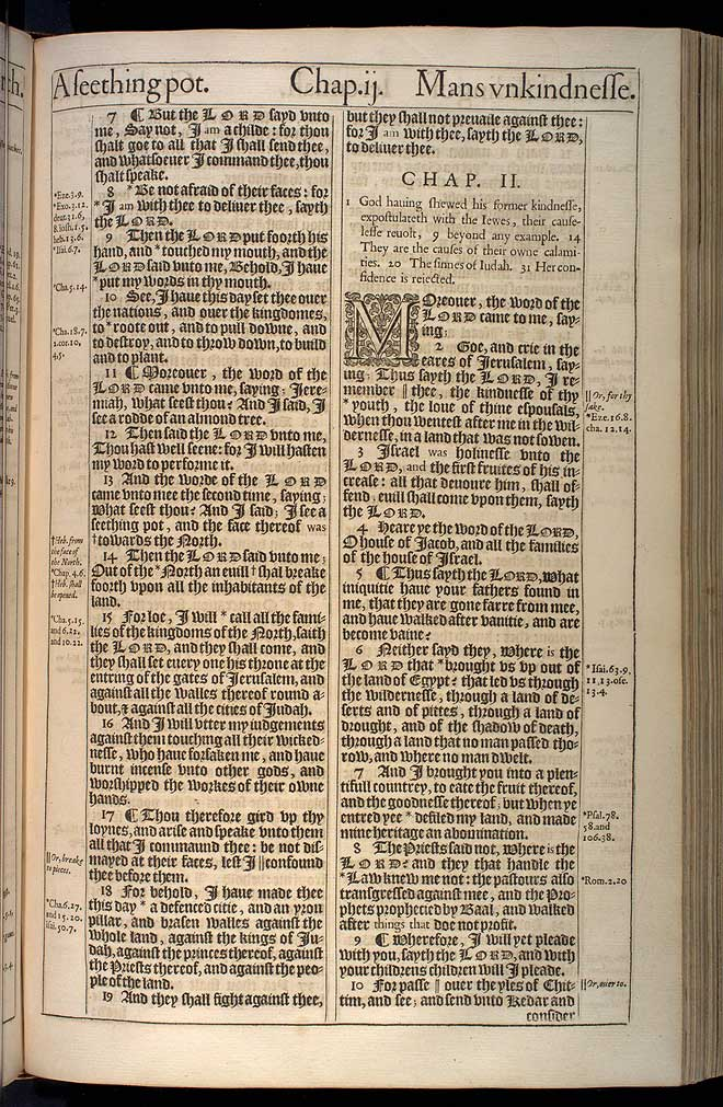 Jeremiah Chapter 1 Original 1611 Bible Scan