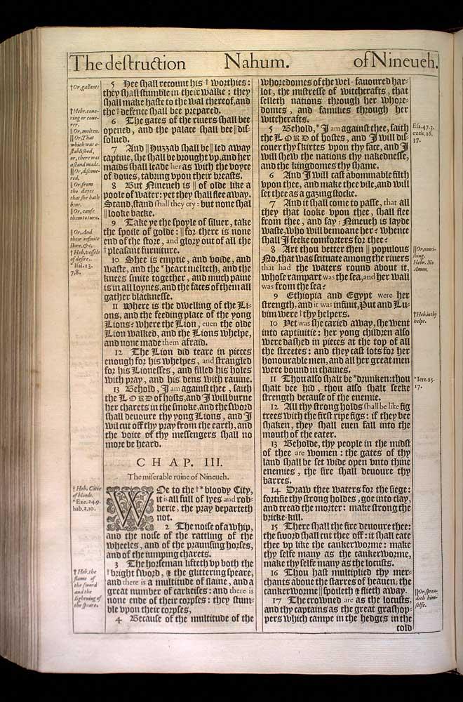 Nahum Chapter 2 Original 1611 Bible Scan